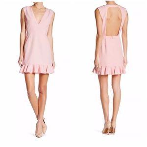 NBD DRESSES Pink Deep V-Neck Dress Size Large